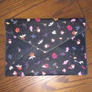 Rebecca Minkoff Black and floral Envelope Clutch